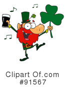 Royalty-Free (RF) Leprechaun Clipart Illustration #91567