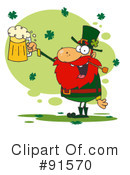 Royalty-Free (RF) Leprechaun Clipart Illustration #91570