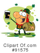 Royalty-Free (RF) Leprechaun Clipart Illustration #91575