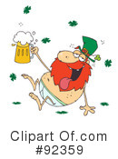 Royalty-Free (RF) Leprechaun Clipart Illustration #92359