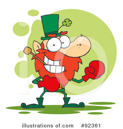 Royalty-Free (RF) Leprechaun Clipart Illustration by Hit Toon - Stock Sample #92361