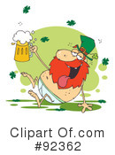 Royalty-Free (RF) Leprechaun Clipart Illustration #92362