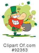 Royalty-Free (RF) Leprechaun Clipart Illustration #92363