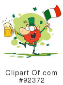 Royalty-Free (RF) Leprechaun Clipart Illustration #92372