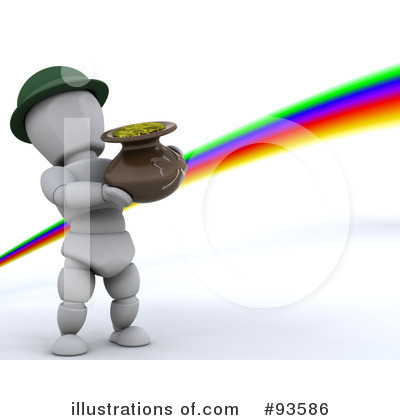 Royalty-Free (RF) Leprechaun Clipart Illustration by KJ Pargeter - Stock Sample #93586