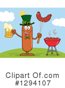 Royalty-Free (RF) Leprechaun Sausage Clipart Illustration #1294107
