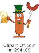 Royalty-Free (RF) Leprechaun Sausage Clipart Illustration #1294109