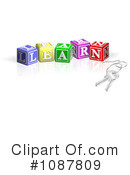 Royalty-Free (RF) Letter Blocks Clipart Illustration #1087809