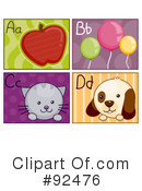 Letter Flashcards Clipart #92476
