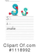 Royalty-Free (RF) Letter Worksheet Clipart Illustration #1118992