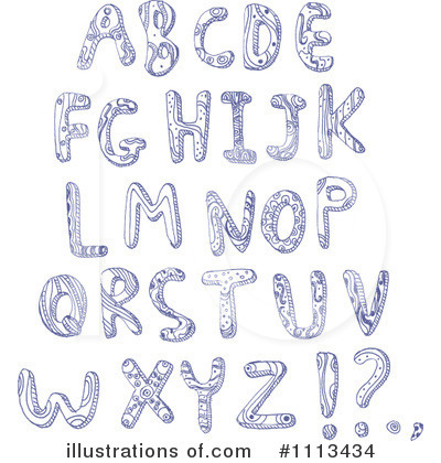 Royalty-Free (RF) Letters Clipart Illustration by yayayoyo - Stock Sample #1113434