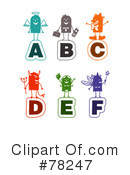 Royalty-Free (RF) letters Clipart Illustration #78247