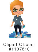Librarian Clipart #1107610 by Melisende Vector
