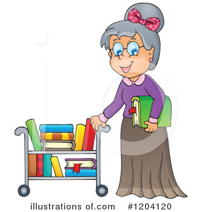 Royalty-Free (RF) Librarian Clipart Illustration by visekart - Stock Sample #1204120