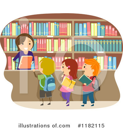 Librarian Clipart #1182115 by BNP Design Studio