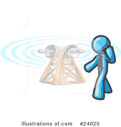 Communications Tower Clipart #24025 by Leo Blanchette