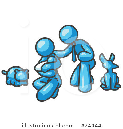 Royalty-Free (RF) Light Blue Collection Clipart Illustration by Leo Blanchette - Stock Sample #24044