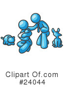 Royalty-Free (RF) Light Blue Collection Clipart Illustration #24044