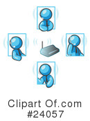 Royalty-Free (RF) Light Blue Collection Clipart Illustration #24057
