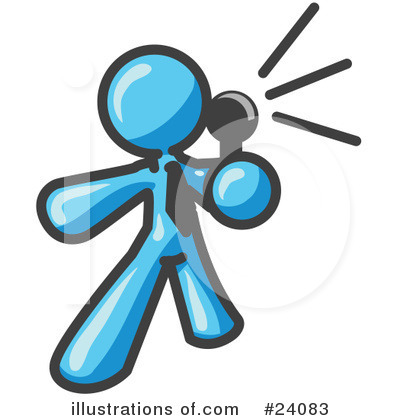 Royalty-Free (RF) Light Blue Collection Clipart Illustration by Leo Blanchette - Stock Sample #24083