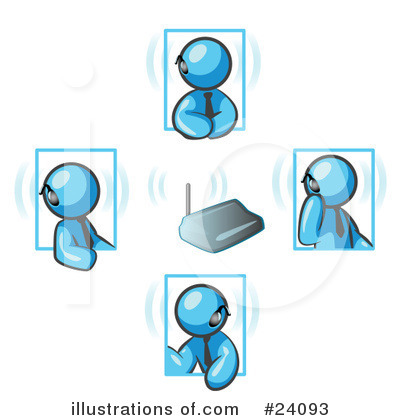Light Blue Collection Clipart #24093 by Leo Blanchette