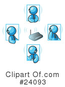 Royalty-Free (RF) Light Blue Collection Clipart Illustration #24093