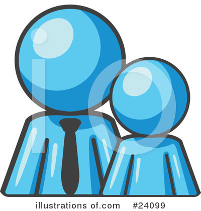 Light Blue Collection Clipart #24099 by Leo Blanchette