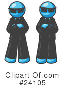 Royalty-Free (RF) Light Blue Collection Clipart Illustration #24105
