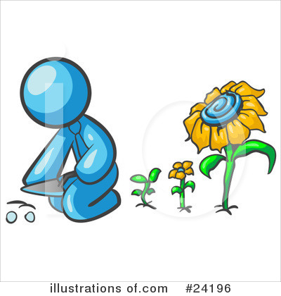 Daisy Clipart #24196 by Leo Blanchette