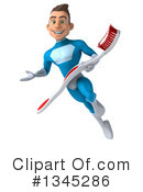 Royalty-Free (RF) Light Blue Super Hero Clipart Illustration #1345286