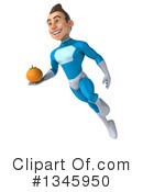 Royalty-Free (RF) Light Blue Super Hero Clipart Illustration #1345950