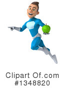 Royalty-Free (RF) Light Blue Super Hero Clipart Illustration #1348820