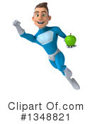 Royalty-Free (RF) Light Blue Super Hero Clipart Illustration #1348821