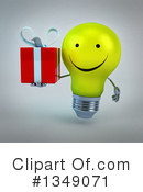 Light Bulb Character Clipart #1349071 by Julos