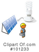 Royalty-Free (RF) Light Bulb Clipart Illustration #101233