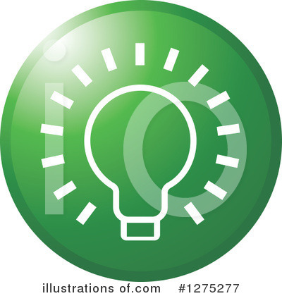 Light Bulb Clipart #1275277 by Lal Perera