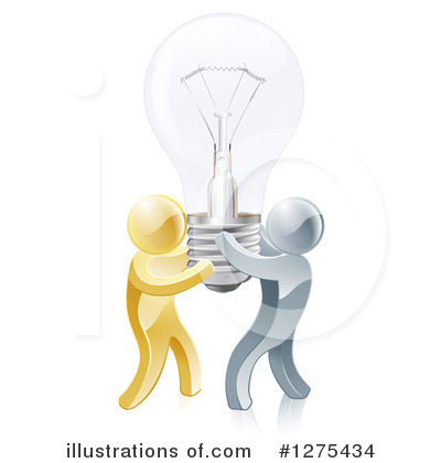 Light Bulb Clipart #1275434 by AtStockIllustration