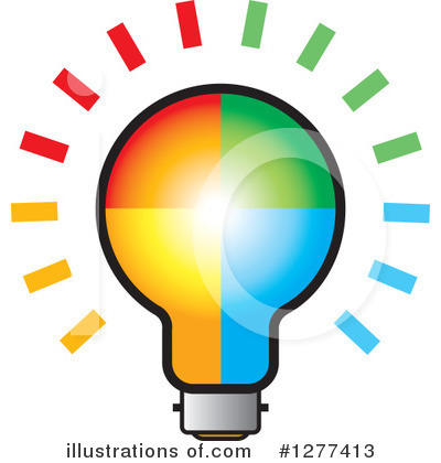 Light Bulb Clipart #1277413 by Lal Perera