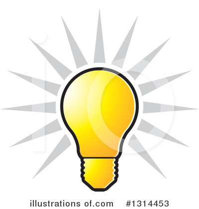 Light Bulb Clipart #1314453 by Lal Perera