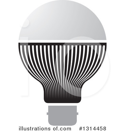 Light Bulb Clipart #1314458 by Lal Perera