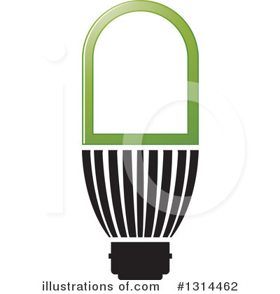 Light Bulb Clipart #1314462 by Lal Perera