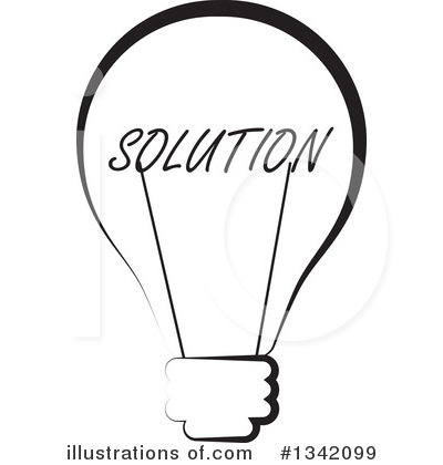 Royalty-Free (RF) Light Bulb Clipart Illustration by ColorMagic - Stock Sample #1342099