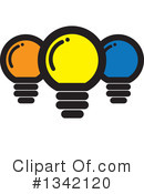 Royalty-Free (RF) Light Bulb Clipart Illustration #1342120