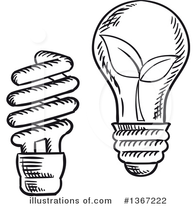 Light Bulb Clipart #1367222 by Vector Tradition SM