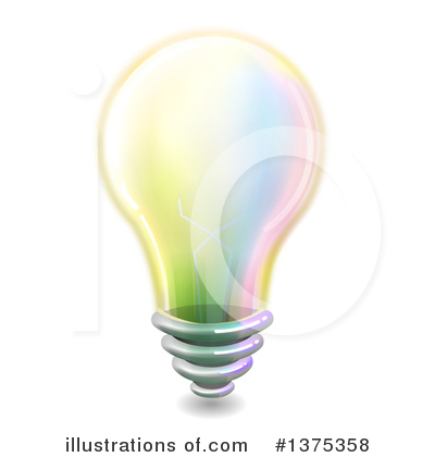 Royalty-Free (RF) Light Bulb Clipart Illustration by BNP Design Studio - Stock Sample #1375358