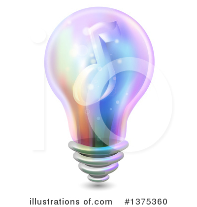 Light Bulb Clipart #1375360 by BNP Design Studio