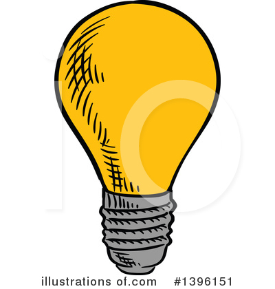 Light Bulb Clipart #1396151 by Vector Tradition SM