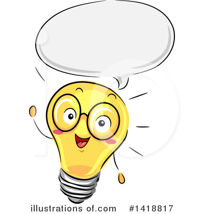Light Bulb Clipart #1418817 by BNP Design Studio