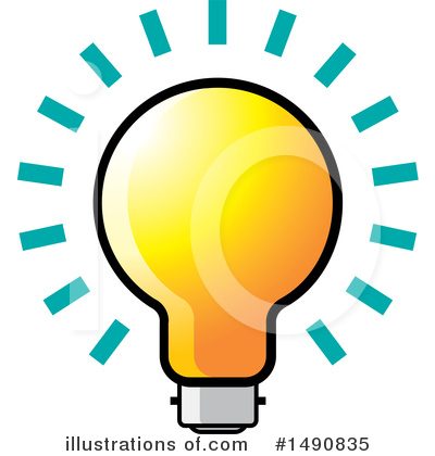 Light Bulb Clipart #1490835 by Lal Perera
