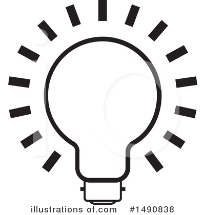 Light Bulb Clipart #1490838 by Lal Perera